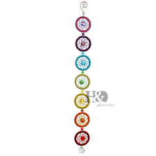 Rainbow Chakra Dream Catcher Wall Hanging Crystal Hippy Ornament Yoga Indian New