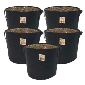 TOP GROWER Premium 5 Gallon Fabric Pots Plant Grow Bag