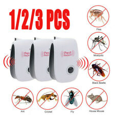 Plug-in Electronic Ultrasonic Anti Rat Mouse Bug Mosquito Flea Pest Repeller UK