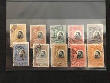 10 Stamps Romania Nihil Sine Deo Bani Lei