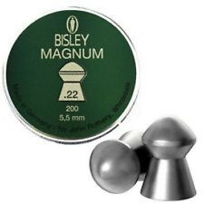 Bisley Magnum .22 Pellets 5.5mm 200 Pellets Tin Air Rifle Pellet Accurate Heavy