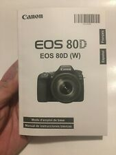 Canon Eos 80D Camera Instruction Book / Manual / User Guide (Spanish/French)