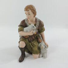 "Kirkland Porcelain Nativity #75177 Replacement Sheppard with 2 lambs 6 x 4 x 4"""