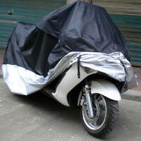 2XL/XL Motorcycle Rain Dust Cover Case 190T Waterproof Outdoor Motorbike & Lock