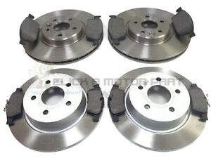 Fits Ford C-Max MK1 1.6 TDCi EuroBrake Rear Solid Brake Disc /& Pad Kit Set