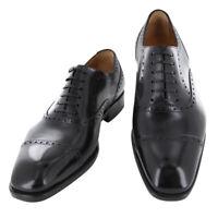 Fiori Di Lusso Noir Chaussures - Casquette Orteil à Lacets - (Bostnblk)