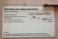 LADY WINDSOR No.2 - ELECTRIC WINDING SETTINGS Sign. RARE PIECE. FREE UK POST.
