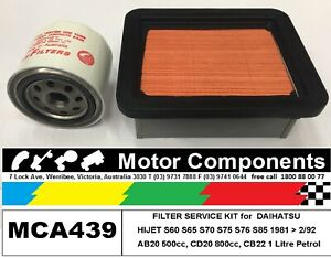 FILTER KIT Oil Air Fuel for DAIHATSU HIJET S60 S65 S70 S75 S76 S85 81>92