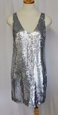 J CREW COLLECTION CATE SEQUIN DRESS COCKTAIL PARTY SILVER SIZE 00 NWT $695