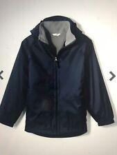 Lands End  School Uniform Boys Fleece Lined Rain Jacket Size Large