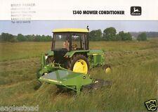 Farm Equipment Brochure - John Deere - 1340 - Mower Conditioner - 1996 (F2280)