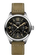 Hamilton Khaki Field Day Date Auto Black Dial Leather Band Men's Watch H70505833