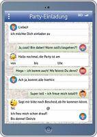 Lustige Tablet-Einladungskarten Kindergeburtstag, Geburtstagseinladungen Kinder