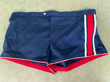 Nos vtg Swim Trunks Shorts Men's Sz 34 May Fit Like Modern Small Shorts Made Usa