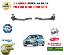 FOR HONDA JAZZ 1.2 1.4 I DSI 2002-2008 NEW 2x OUTER TRACK RACK TIE ROD END SET