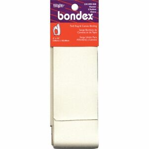 """Iron On Rug Binding for latch hook kits & rug repairs by Bondex. 2"""" by 2 yards."""