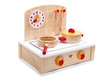 Tooky Toys Childrens Wooden Cute Kitchen Toy Playset Age 3+