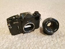 Canon F-1 35mm Slr Film Camera Body with Canon Fd 50mm f1.8 S.C. Lens