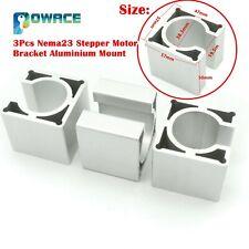 3pcs Motor Bracket Aluminium Mount Clamp Support For Cnc Nema23 Stepper Motor
