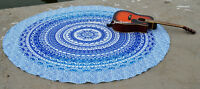 Mandala Round Roundie Hippie Indian Ombre Throw Bohemian Tapestry Beach Yoga Mat