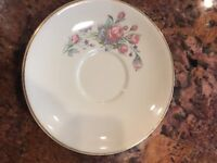 "Taylor Smith &Taylor Floral 6"" Saucer Plate Set of 2"