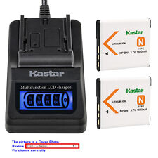 Kastar Battery LCD Quick Charger for Sony NP-BN1 NPBN1 Sony Cyber-shot DSC-W830