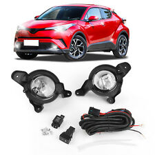 Front Bumper Light Luz De Niebla w/Wires Switch Emark Para Toyota C-HR CHR 17/18