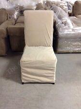 Pottery Barn Comfort Dining Side Chair Long Slipcover Everyday Velvet Buckwheat