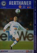 Programm 2003/04 Hertha BSC Berlin - Eintracht Frankfurt
