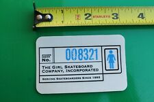 Girl Skateboards Barcode Clear Chocolate Women Z9 Vintage Skateboarding Sticker