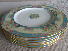 6 Lenox Monticello Dinner Plates Detailed Flowers Gold Trim Amazingly Beautiful