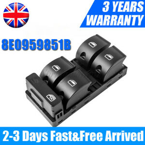 Driver Side For Audi A4 B6 A4 B7 Electric Master Power Window Control Switch UK