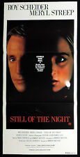 STILL OF THE NIGHT Original Daybill Movie Poster Meryl Streep Roy Scheider