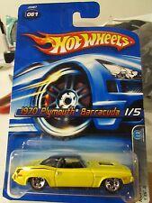 Hot Wheels 1970 Plymouth Barracuda #061 Mopar Madness Yellow