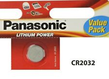 2 x Panasonic CR2032 3V Lithium Coin Cell Battery 2032 Batteries Brand new stock