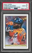 2020 Topps Game Within The Game # 2 YORDAN ALVAREZ RC GEM MINT PSA 10 Astros a
