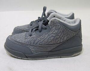NEW Vintage Jordan 3 Retro  832033-015 Cool Grey/Blue Glow toddler  Size 10 C