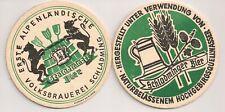 """Schladminger Bier - historischer Bierdeckel """"Erste Alpenländische Volksbrauerei"""""""