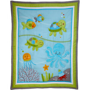 Little Bedding by NOJO Ocean Dreams Velboa Baby Blanket NEW With Tags SEALED