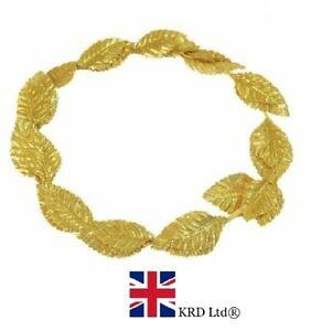 GOLD LEAF WREATH HEADPIECE Roman Greek Goddess Toga Fancy Dress Headband ZP94002
