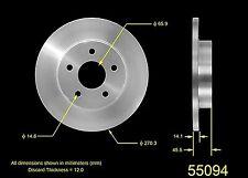 Rear Rotors & Rear Ceramic Brake Pads fits for Chevrolet Cobalt 2004-2010