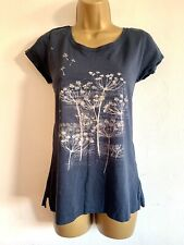 FAT FACE Ladies Cotton T-shirt Sz 10 Spring