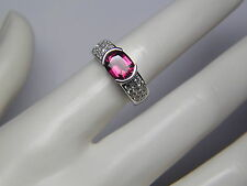 NATURAL 2.24 ct UNTREATED RED SPINEL AND 1.4 ct DIAMOND RING-14K-VALUED AT $5050
