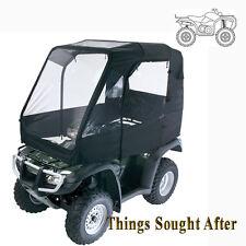 BLACK DELUXE ATV CABIN ENCLOSURE Canvas Full Quad Cargo Rack Cab Shelter Cover