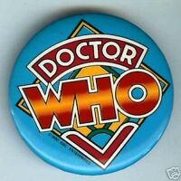 Stunning pinback  colorful button DOCTOR WHO 1980 dated BBC pin