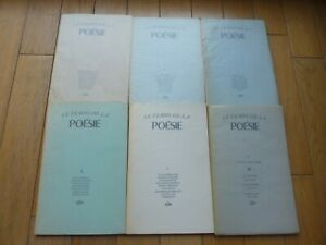 GUY LEVIS MANO GLM LE TEMPS DE LA POESIE 6 VOLUMES COMPLET E.O. TBE
