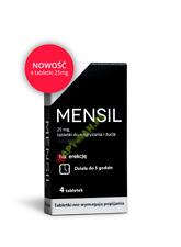 MENSIL 4 tabetki na potencje erekcje zaburzenia wzwodu , 25 mg