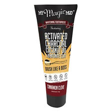 My Magic Mud - Cinnamon Clove Activated Charcoal Whitening Toothpaste - 4oz