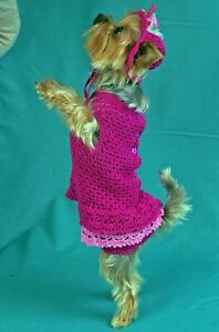Hat for dog Pet clothes Dog hat & dress set Puppy dress size XS Clothes Dog