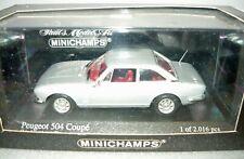 Minichamps 400112122, Peugeot 504 Coupé, silber, 1/43, NEU&OVP